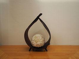 Muschellampe Palmblatt (gebogen, dunkelbraun) XXS