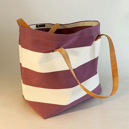 Bag - Tasche - Sac  BC 003 Praz (mauve and white)