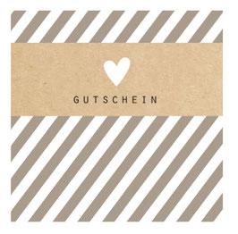 """Gutschein """"HEART STRIPES GREY"""" 492010026"""