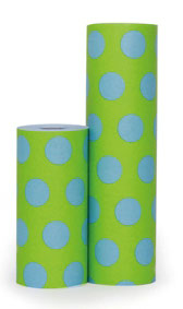 P15.328 BIG DOTS BLUE ON GREEN