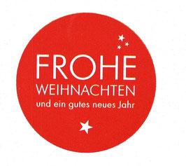 """Etiketten """"Frohe Weihnachten Rot Weiß"""""""