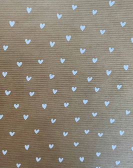 K40860-13  WHITE HEARTS ON RECYCLING BROWN