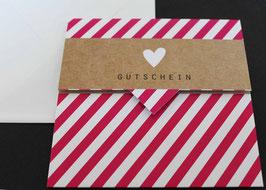 """Gutschein """"HEART STRIPES PINK"""" 492010024"""