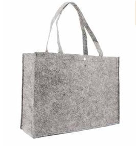 "FILZ TASCHE ""BUTTON LIGHT GREY"""