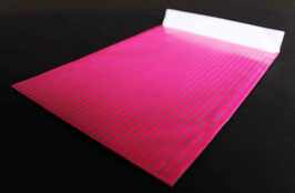 "Flachbeutel ""Stripes pink-silber"" coated 167391F"