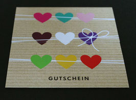 "Gutschein ""COLOURFUL HEARTS"" 492010073"