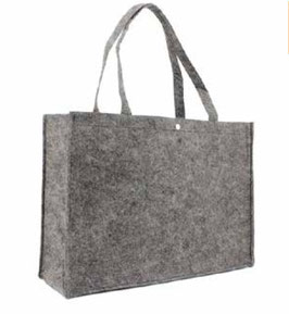 "FILZ TASCHE ""BUTTON DARK GREY"""