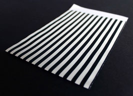 "Flachbeutel ""Stripes black&withe"" coated 86670F"