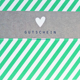 "Gutschein ""HEART STRIPES GREEN"" 492010027"