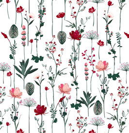 K602046-1 Dried FLOWERS WHITE PINK