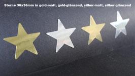 Etiketten - Sterne 36 x 36mm