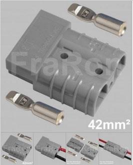 Hochstromsteckverbinder 120A, 2polig inkl. Crimpkontakte bis 42mm², AWG1