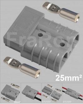 Hochstromsteckverbinder 120A, 2polig inkl. Crimpkontakte bis 25mm², AWG4