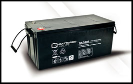 Q-Batteries 12LC-225 Deep Cycle 243Ah AGM-Vliesbatterie