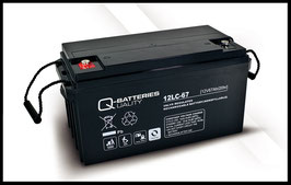 Q-Batteries 12LC-67 Deep Cycle 67Ah AGM-Vliesbatterie