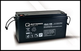 Q-Batteries 12LC-150 Deep Cycle 160h AGM-Vliesbatterie