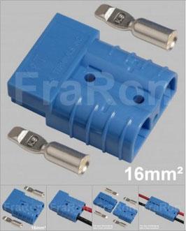 Hochstromsteckverbinder 50A, 2-polig inkl. Crimpkontakte bis 16mm², AWG6