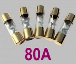 80A Glasrohrsicherung Typ AGU, 5er Set