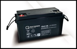 Q-Batteries 12LC-130 Deep Cycle 128Ah AGM-Vliesbatterie