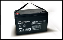 Q-Batteries 12LC-100 Deep Cycle 107Ah AGM-Vliesbatterie