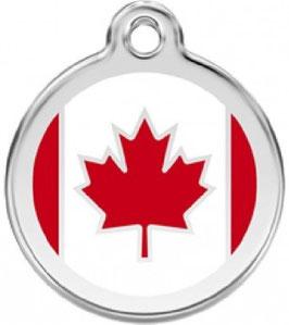 RedDingo Hundemarke Kanadische Fahne CA
