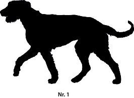 Aufkleber verschiedene Hunderassen