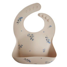 Silicone Bibs by Mushie Lilac flower