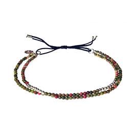 Bracelet Mini pierres - unakite vert