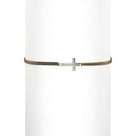 Bracelet cordon Croix