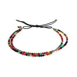 Bracelet Mini pierres - agathe multi
