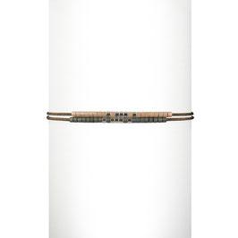 Bracelet cordon perles - Rose