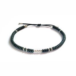 Bracelet Hématite - Gris mat