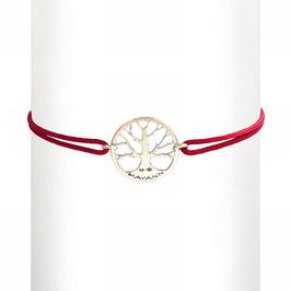 Bracelet cordon Arbre - argent