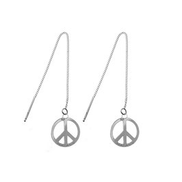 Boucles d'oreilles Peace & Love (GM)