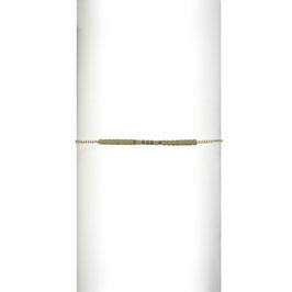 Bracelet chaine perles - Blanc