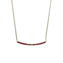 Collier chaine perles - Mauve