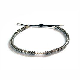 Bracelet Hématite - argenté