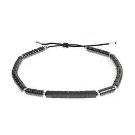 Bracelet Hématite rond - noir