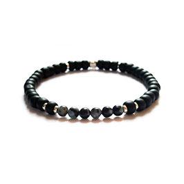 Bracelet Obsidienne - gris foncé