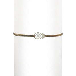 Bracelet cordon Ananas