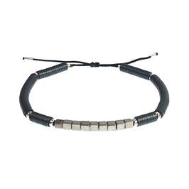 Bracelet Hématite rond - gris mat