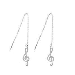 Boucles d'oreilles Solfège (GM)