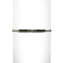 Bracelet cordon perles - Noir