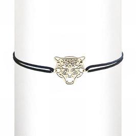 Bracelet cordon Tigre - argent