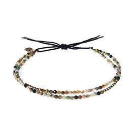 Bracelet Mini pierres - agathe vert clair