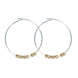 Créoles perles - bronze