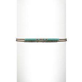 Bracelet cordon perles - Turquoise