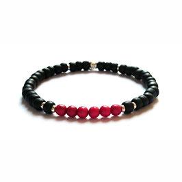 Bracelet Howlite - rouge