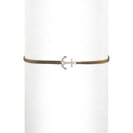 Bracelet cordon Ancre