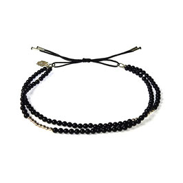 Bracelet Mini pierres - agathe noir